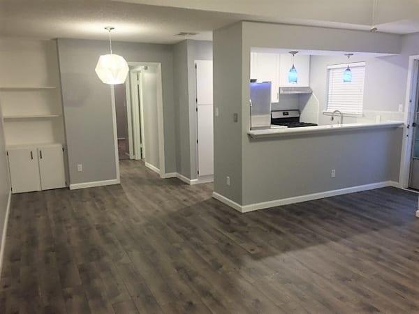 Apartment interior painting job