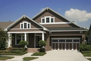 Home exterior painting - brown and white