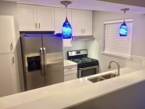 Residential kitchen cabinet painting job