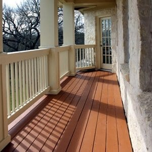 Example of solid deck stain color