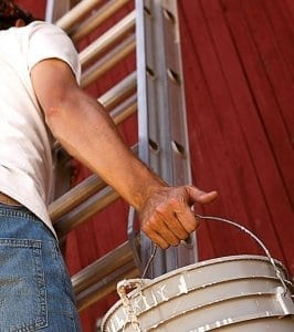 House Painting -painting a barn