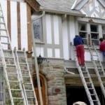 minor carpentry - Exterior painting rotten trim repair