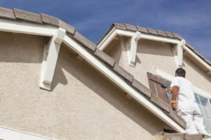 Stucco repair and painting - house