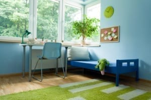 Interior design trends - using green
