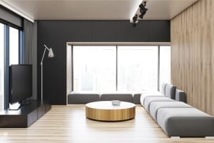 Paint Colors - black accent wall