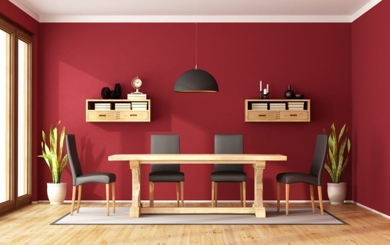 Paint Colors - Red Dining Room