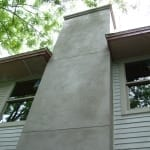 Stucco repair and painting - chimney