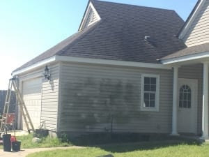 Pressure washing - mildew on siding