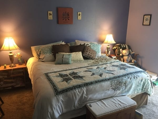 Blue Bedroom - Interior Painting Project