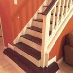 Stained Stairs and Handrail - Deck and Fence Staining