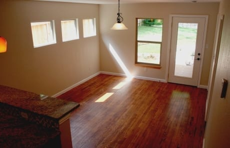 popcorn ceiling remoal - dining area