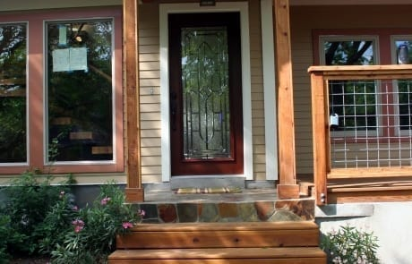 Stained Cedar Trim