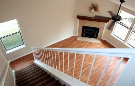 Paint Vaulted Ceiling and Railing
