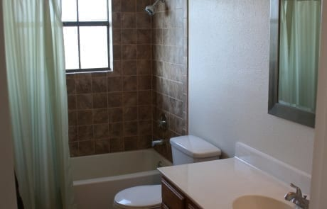 Bathroom Cabinet Staining