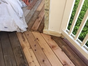 Perform rotten wood repair before applying new stain color
