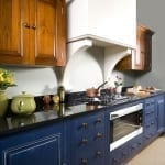 Kitchen Cabinet Painting - Wood Finish and Painted Bases