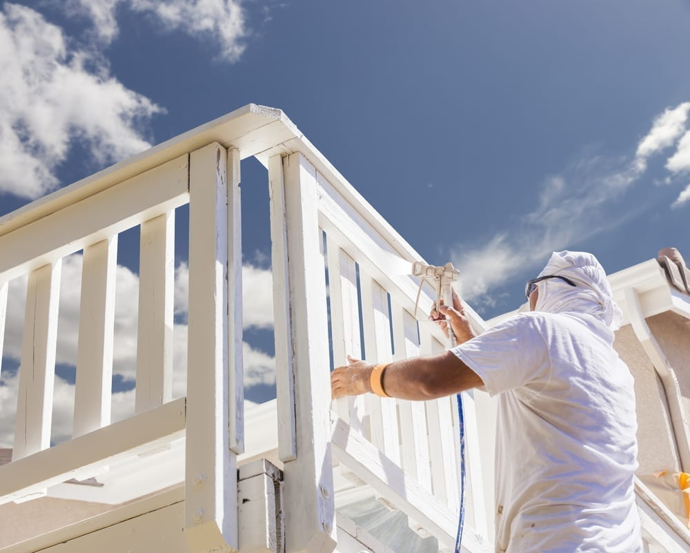 Austin home painting services - spraying