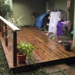 Deck Rotten Wood Repair and Staining