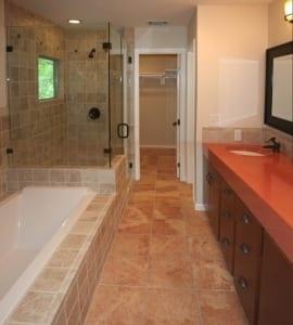 bathroom with concrete counter
