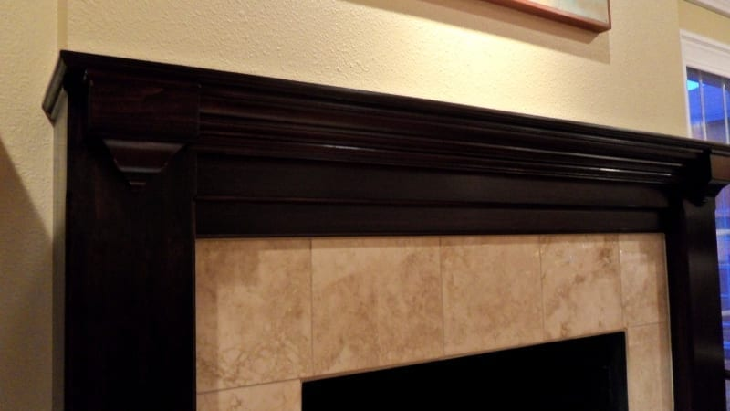 Stain Fireplace - minor carpentry