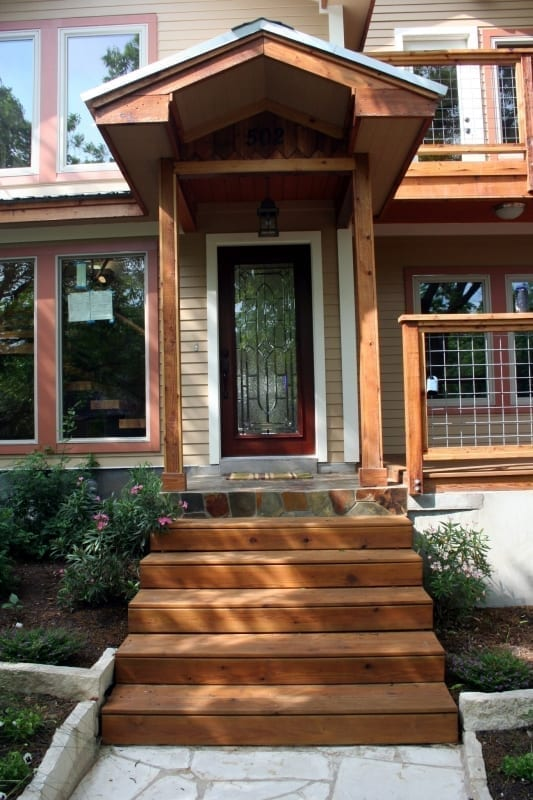 Stained Cedar Trim Surepro Painting
