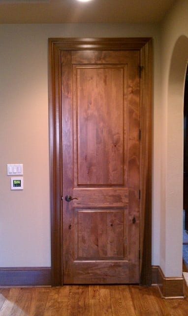 Stained hardwood door - Interior Remodel