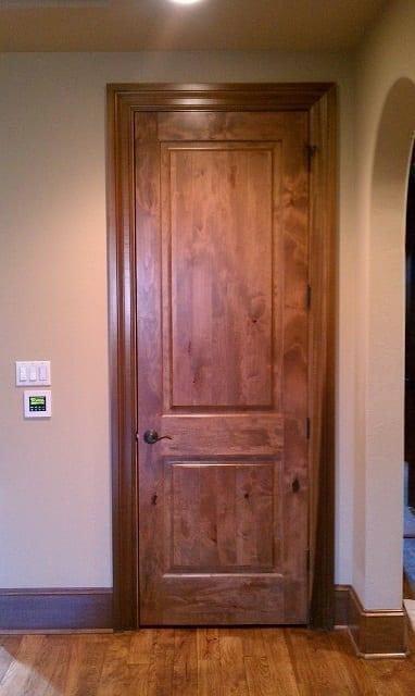 Stained hardwood door - Interior Remodel