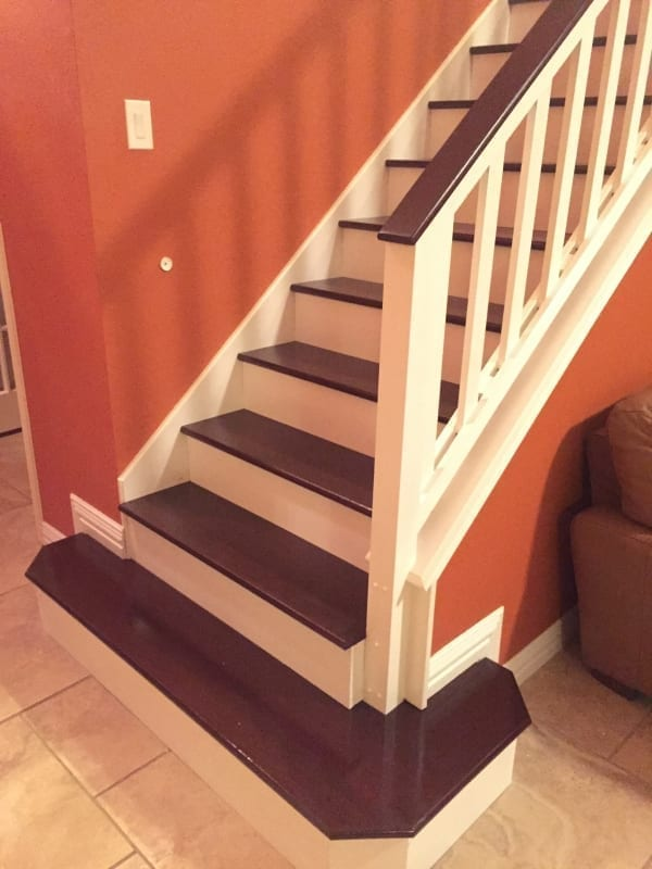Stained Stairs and Handrail