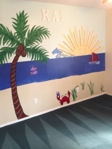 Painting a Nursery - Kid's mural