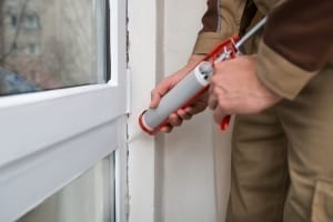 exterior house painting - caulking