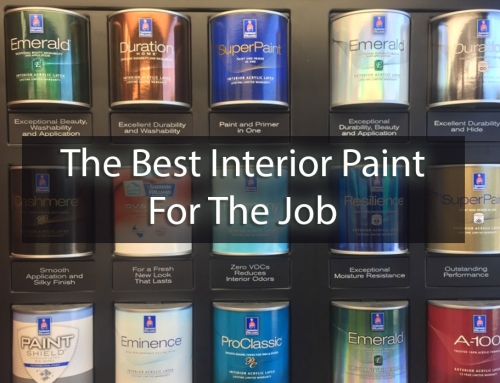 The Best Interior Paint For The Job