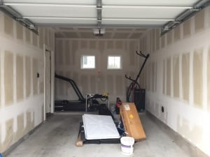 painting a garage - unfinished garage