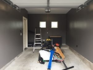 painting a garage - finished garage