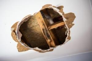 Sheetrock Repair - wet sheetrock