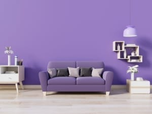 Interior design trends - using purple
