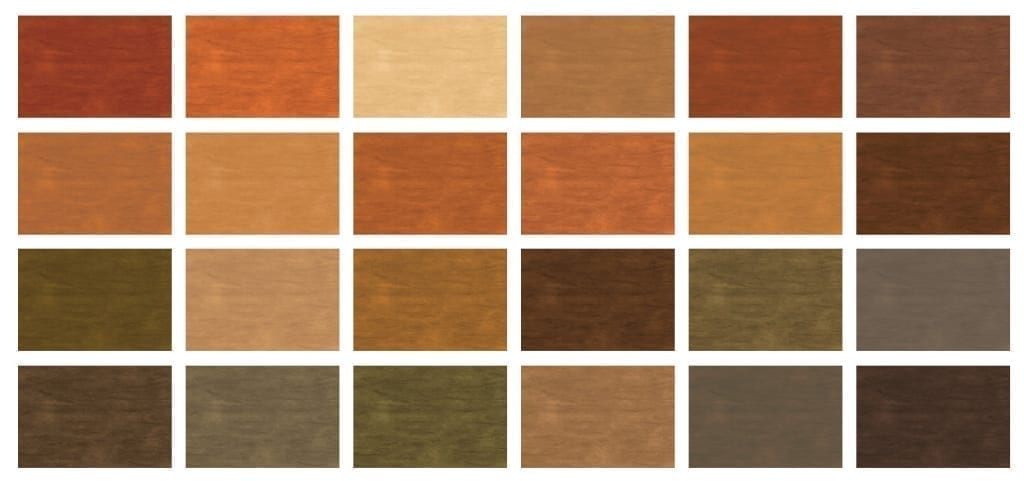 Deck stain color choice examples