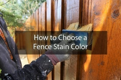 how to choose a fence stain color - cover