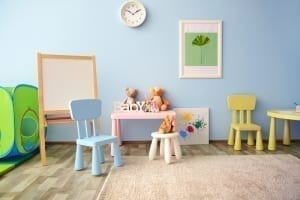 misty blue playroom