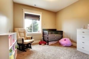 beige baby's room