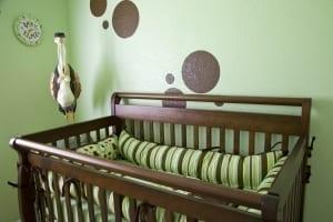 green baby nursery