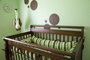 going green with the baby's room