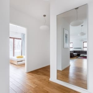 white painted apartment