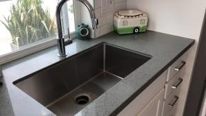 large kitchen trough style sink
