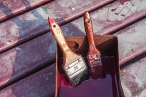 soaking brushes used for stain