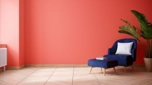 Bright accent wall color