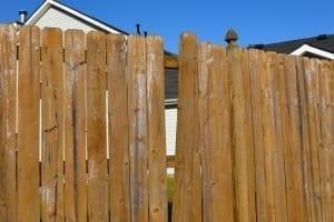 broken wood privacy fence