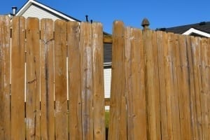 broken wood privacy fence