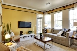 yellow apartment paint color