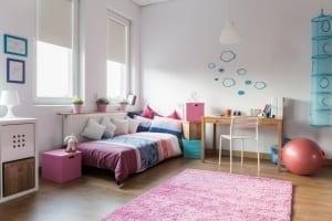 Teenager tranquil bedroom