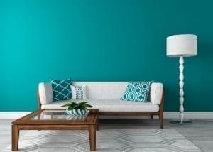 aqua blue living room
